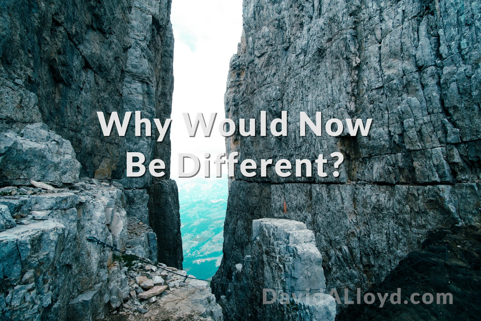 Why Would Now Be Different